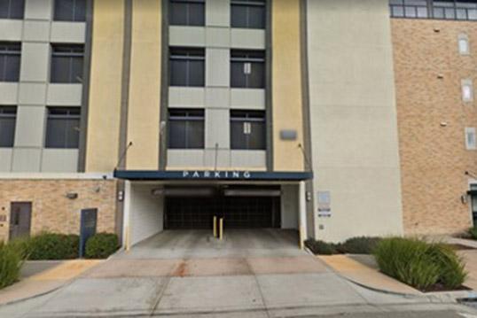 Image of a parking garage entrance