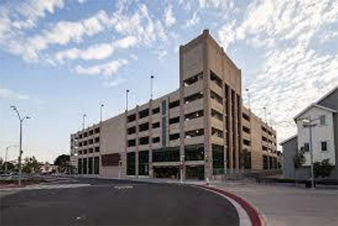 Street-view image of Richmond station parking garage.