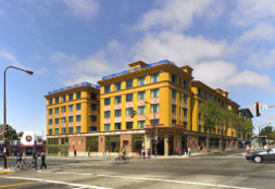 New Californian development in Berkeley, where more parking was built than ended up being needed. This underused parking takes up important space that could have been used for other purposes.